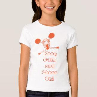Keep Calm and Cheer On | Orange Cheerleader Tshirt