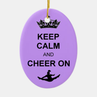 Keep Calm and Cheer on ornament