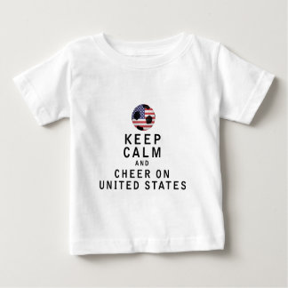 Keep Calm and Cheer On United States T Shirt