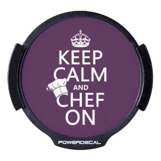 Keep Calm and Chef On LED Car Window Decal