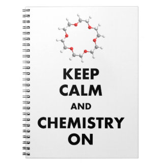 Keep Calm and Chemistry On Notebook