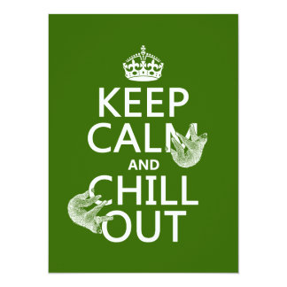 Keep Calm and Chill Out (sloth) (any color) Card