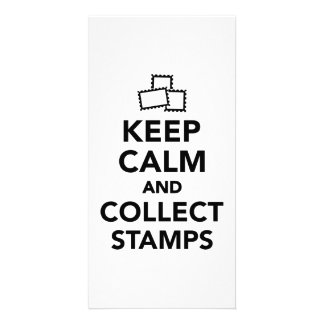 Keep calm and collect stamps photo greeting card
