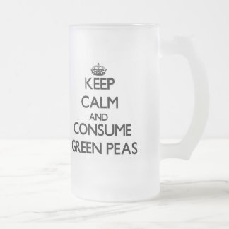 Keep calm and consume Green Peas Glass Beer Mug