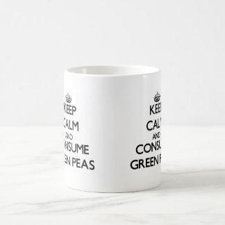Keep calm and consume Green Peas Coffee Mug