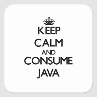 Keep calm and consume Java Sticker