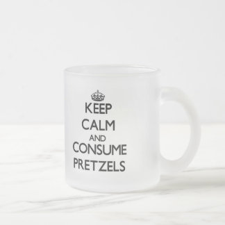 Keep calm and consume Pretzels Frosted Glass Mug