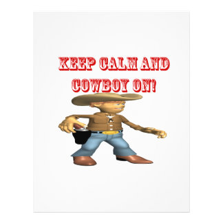 Keep Calm And Cowboy On 2 Full Color Flyer