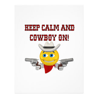 Keep Calm And Cowboy On 4 Full Color Flyer