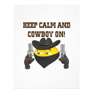 Keep Calm And Cowboy On Personalized Flyer