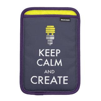 Keep Calm and Create Sleeve For iPad Mini