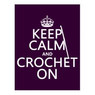 Keep Calm and Crochet On Postcard