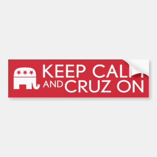 Keep Calm and Cruz On 2016 Bumper Sticker