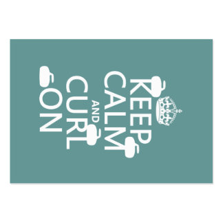 Keep Calm and Curl On (any color) Pack Of Chubby Business Cards
