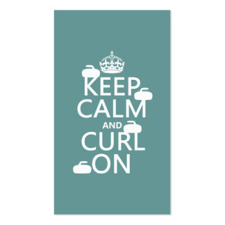 Keep Calm and Curl On (any color) Pack Of Standard Business Cards