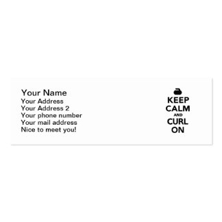 Keep calm and curl on business card templates