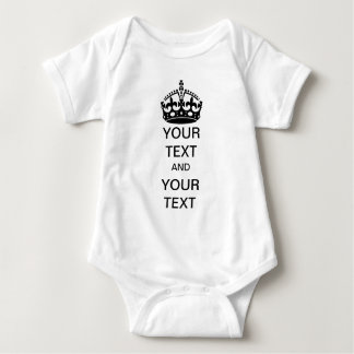 Keep Calm and Customize Baby Bodysuit
