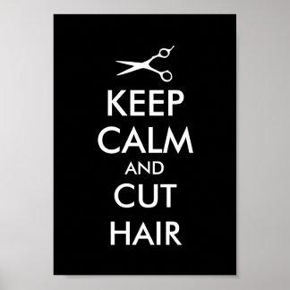 Keep calm and cut hair poster for hairsalon