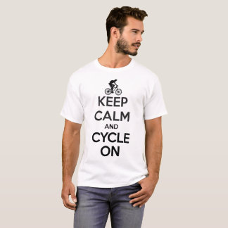 Keep Calm and Cycle On Cycling Men White T-Shirt