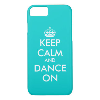 Keep Calm and dance on iPhone 7 case | Customizabl