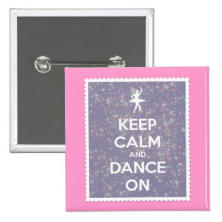 Keep Calm and Dance On Lavender Bokeh 15 Cm Square Badge