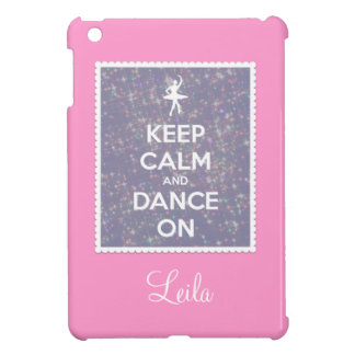 Keep Calm and Dance On Lavender Bokeh iPad Mini Cases