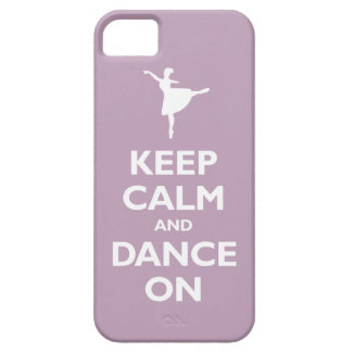Keep Calm and Dance On (pale violet) Case For The iPhone 5