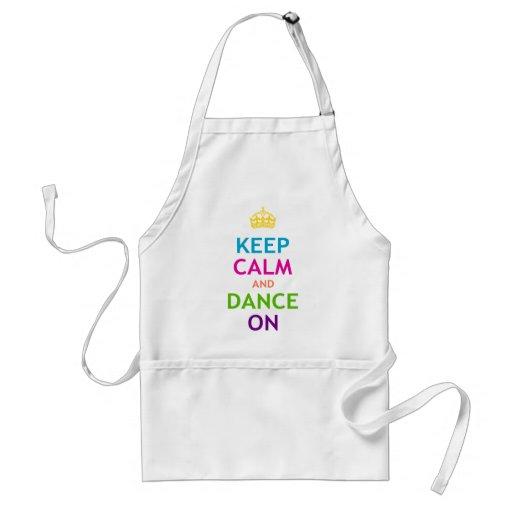 Keep Calm and Dance On Standard Apron
