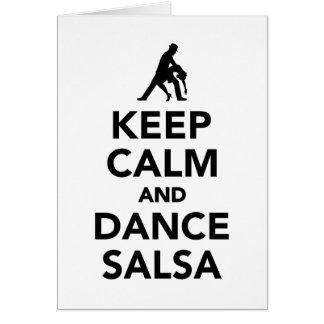 Keep calm and dance Salsa Card