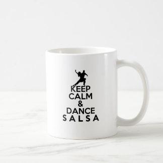 KEEP CALM AND DANCE SALSA gift Coffee Mug