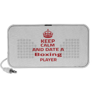Keep calm and date a Boxing player Travel Speakers