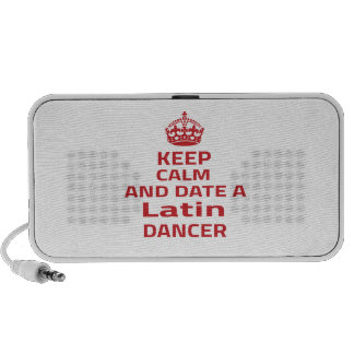 Keep calm and date a Latin dancer Portable Speaker