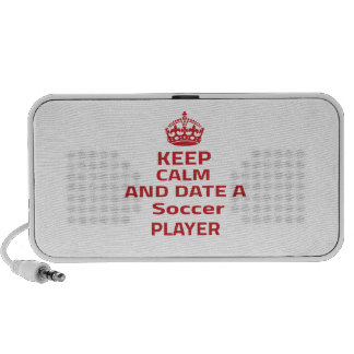 Keep calm and date a Soccer player iPhone Speakers