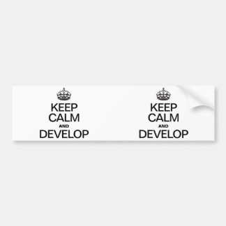 KEEP CALM AND DEVELOP BUMPER STICKERS