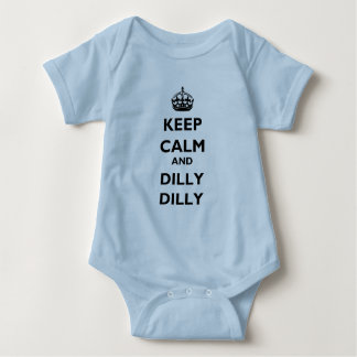 Keep Calm and Dilly Dilly Baby Jersey Lt Bodysuit