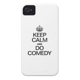 KEEP CALM AND DO COMEDY iPhone 4 Case-Mate CASE