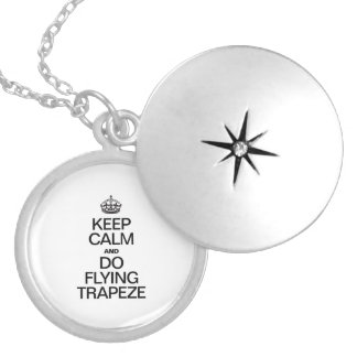 KEEP CALM AND DO FLYING TRAPEZE.ai Locket Necklace