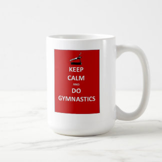 Keep calm and do gymnastics coffee mug