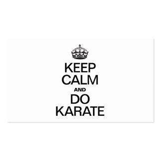 KEEP CALM AND DO KARATE BUSINESS CARD TEMPLATES
