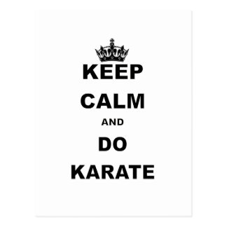 KEEP CALM AND DO KARATE POSTCARD