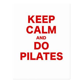 Keep Calm and Do Pilates Postcard