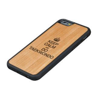 KEEP CALM AND DO TAEKWONDO CARVED CHERRY iPhone 6 BUMPER CASE