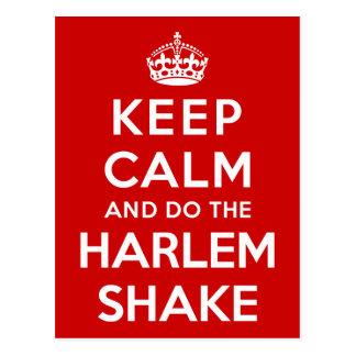 Keep Calm and do the Harlem Shake Postcard
