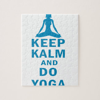 keep calm and do yoga jigsaw puzzle