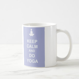 Keep Calm and Do Yoga Basic White Mug