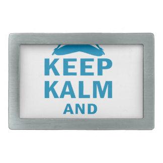 keep calm and do yoga rectangular belt buckle