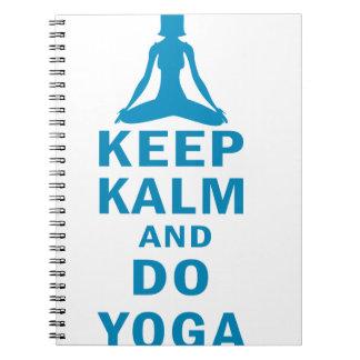 keep calm and do yoga spiral notebook