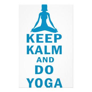 keep calm and do yoga stationery