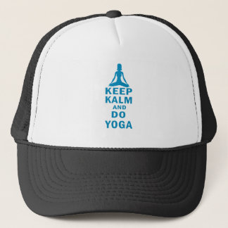 keep calm and do yoga trucker hat