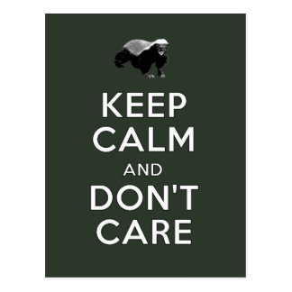 Keep Calm and Don t Care Post Cards